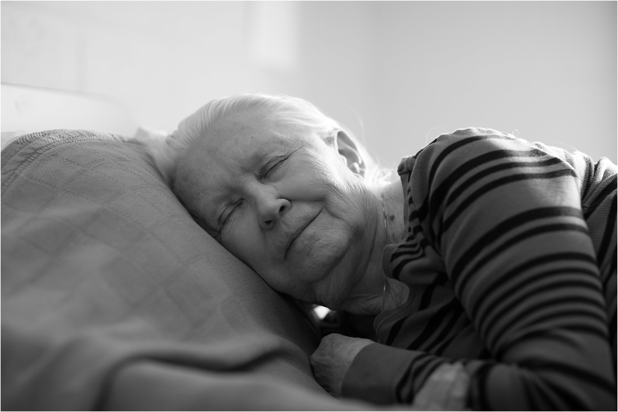 Portrait of Elderly Woman Sleeping