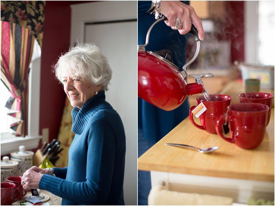 making tea, pouring tea