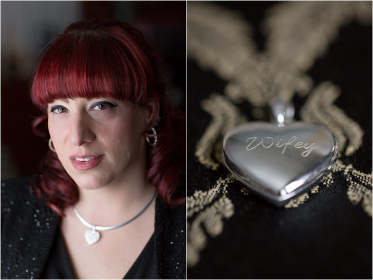 Bridal Portrait and Heart Locket