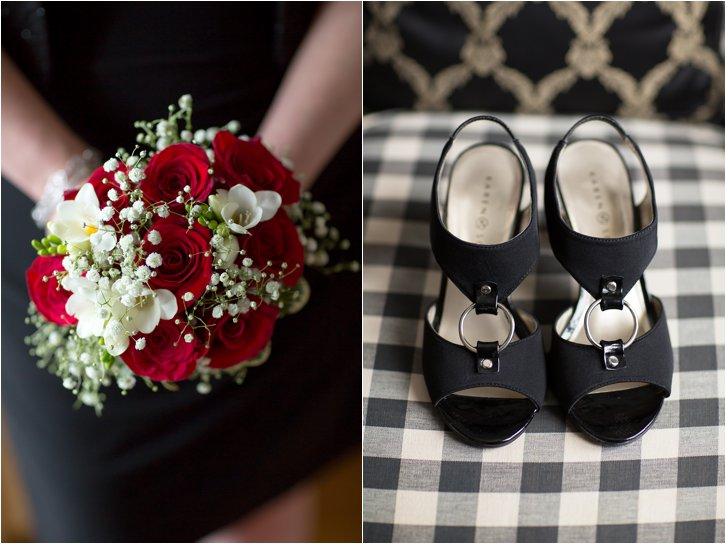 Bridal Bouquet and Black Shoes ©-2015-Maundy-Mitchell
