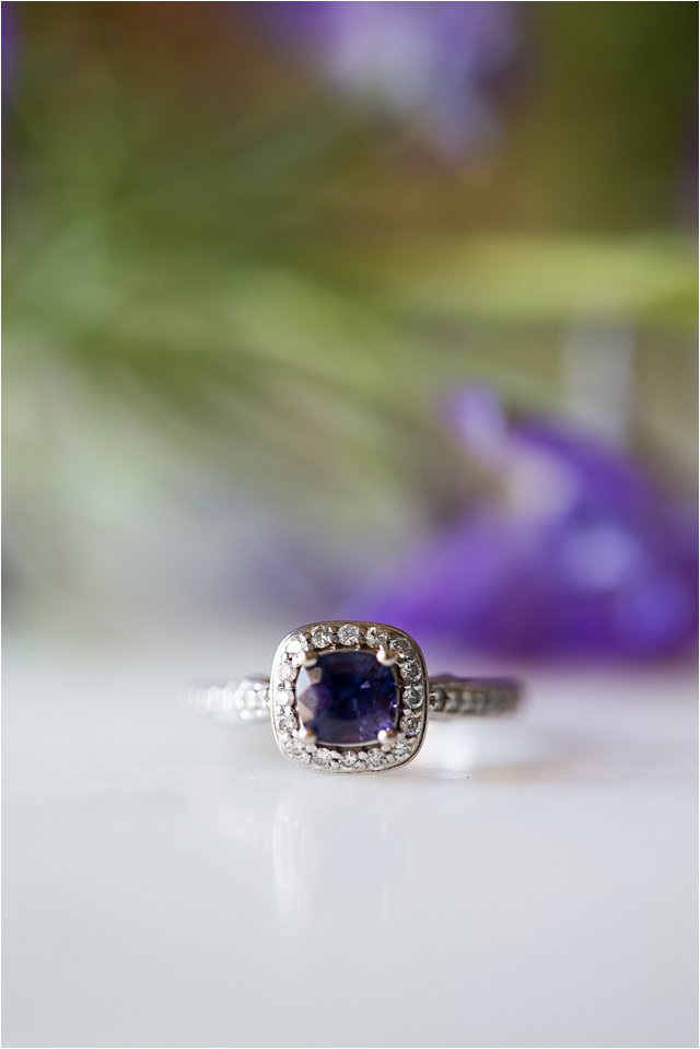Color-changing Sapphire and Diamond Engagement Ring