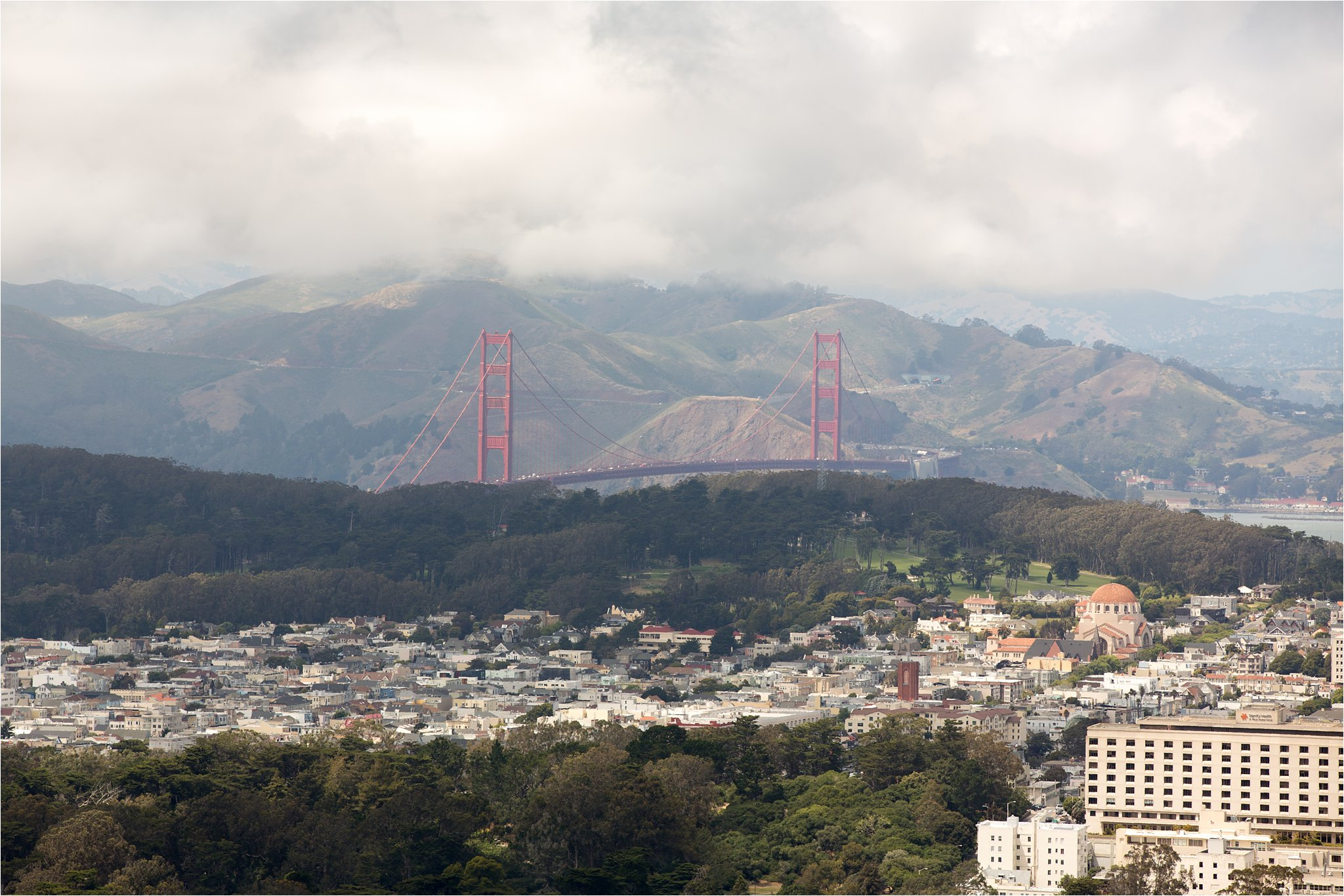 View of Golden Gate Bridge from Twin Peaks
