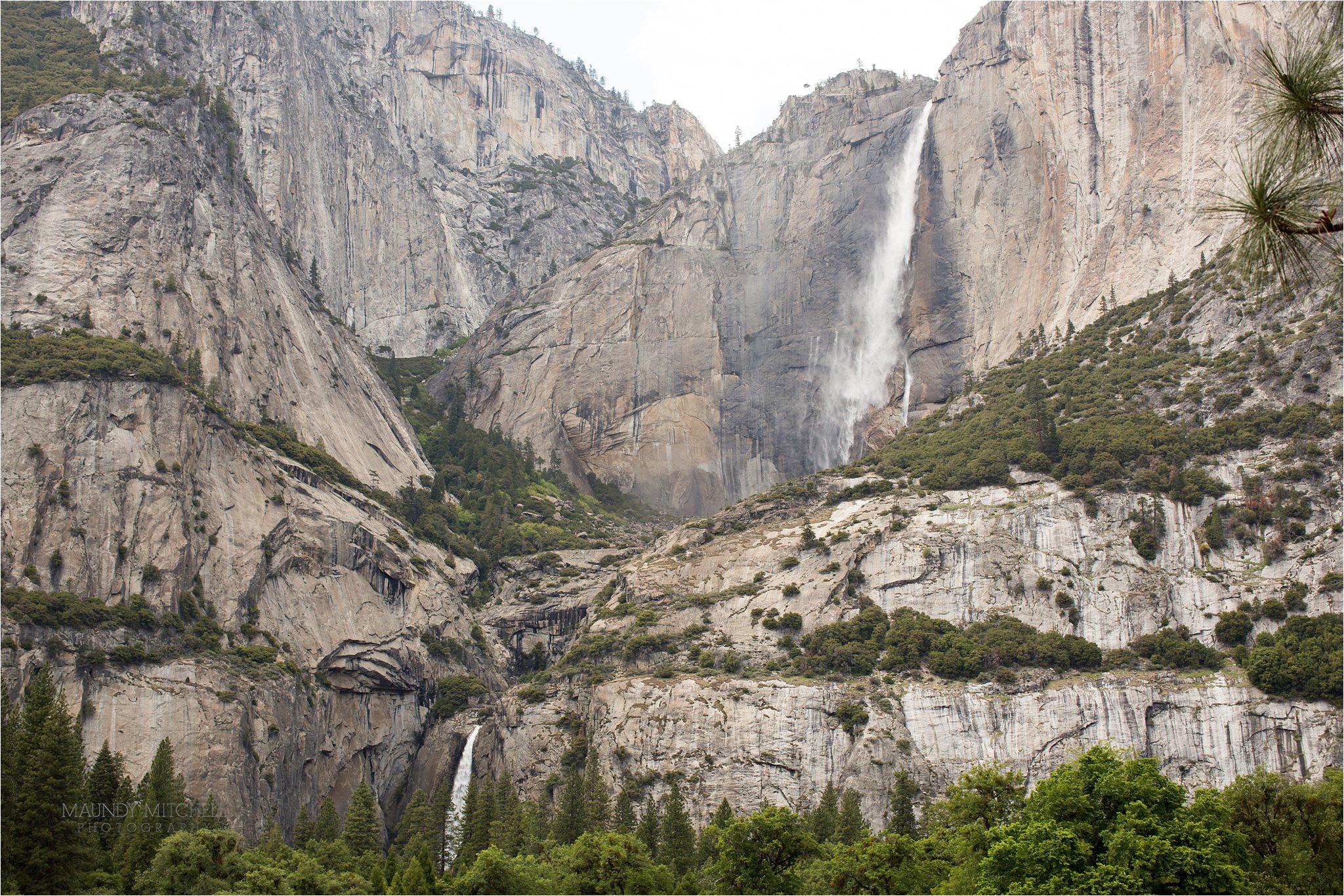 Waterfalls in Yosemite National Park