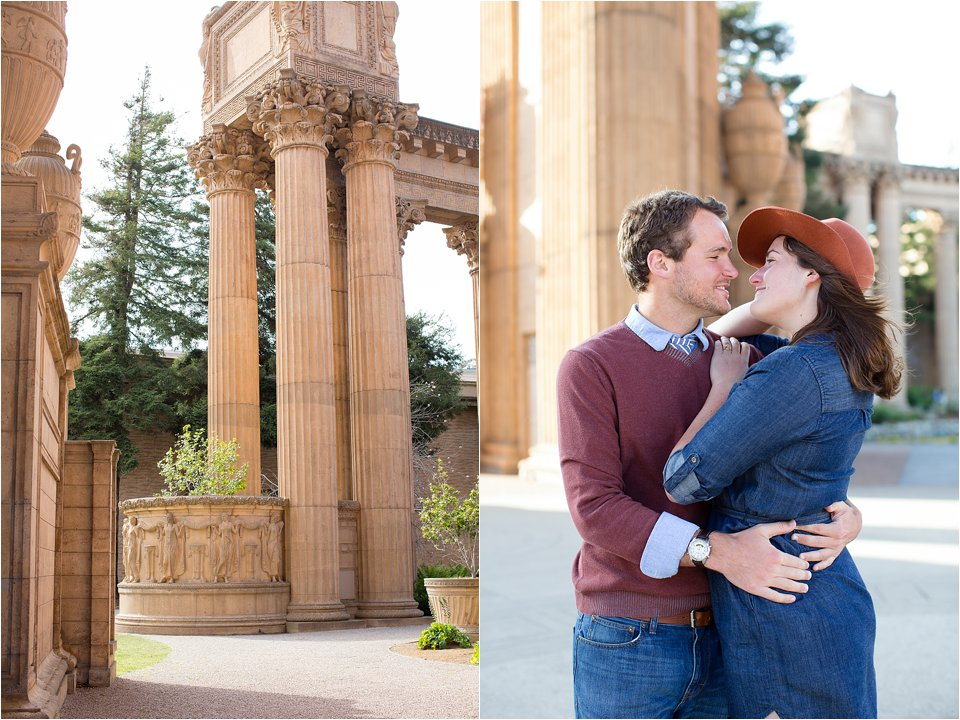 Engagement Photos at the Palace of Fine Arts