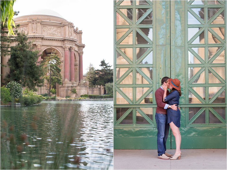 Palace of Fine Arts and Couple  by Green Doors