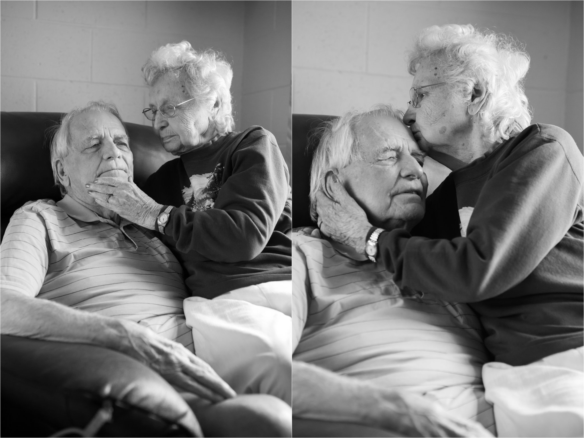 Black and White Photographs of Elderly Couple