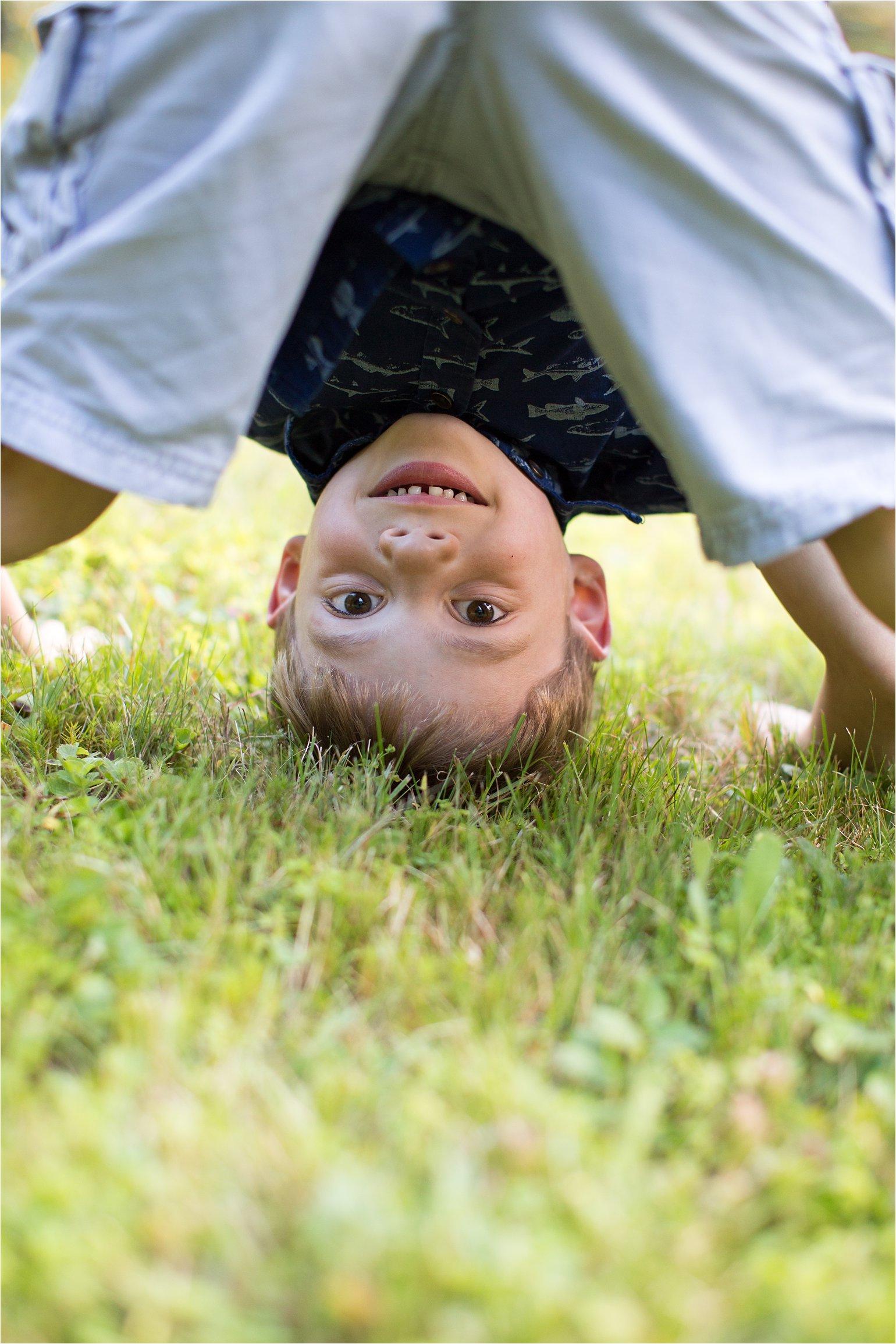 Boy Doing Somersault © 2015 Maundy Mitchell