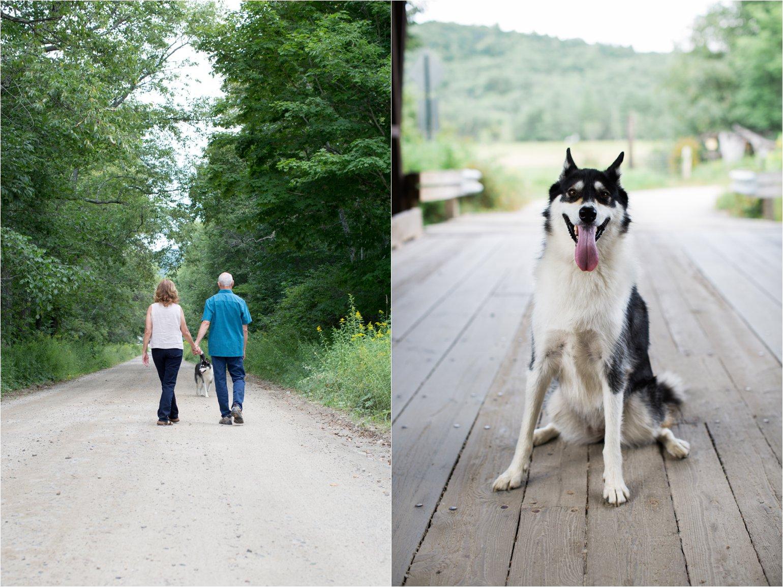 Couple Walking with Dog (C) Maundy Mitchell