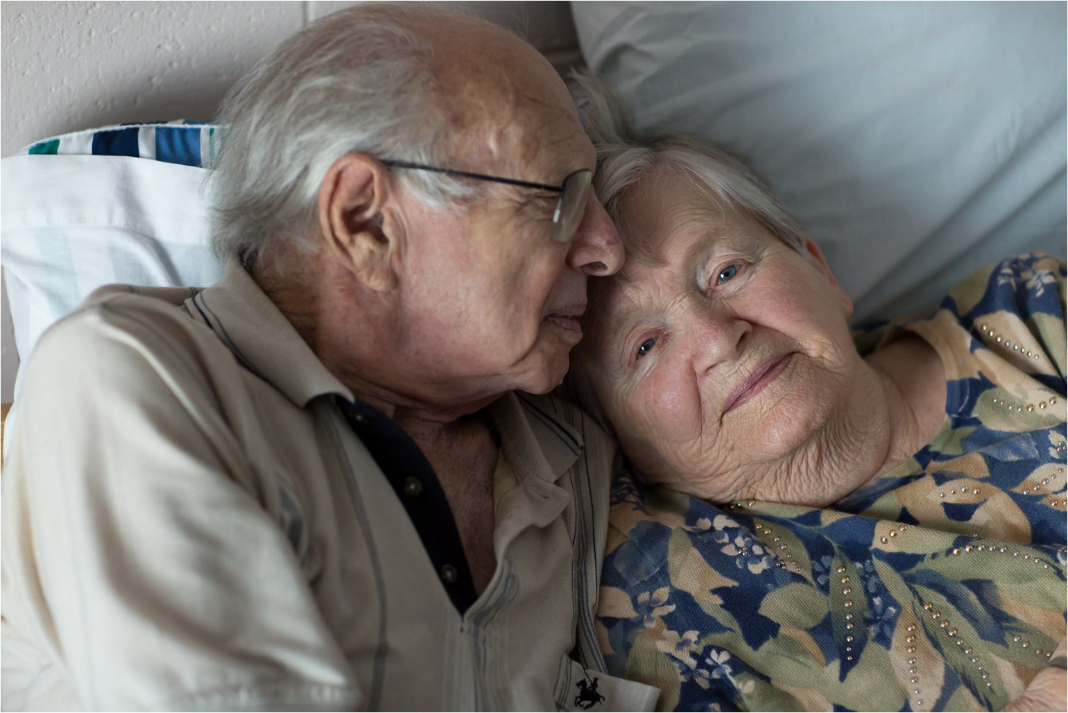Elderly Couple on Bed (C) Maundy Mitchell