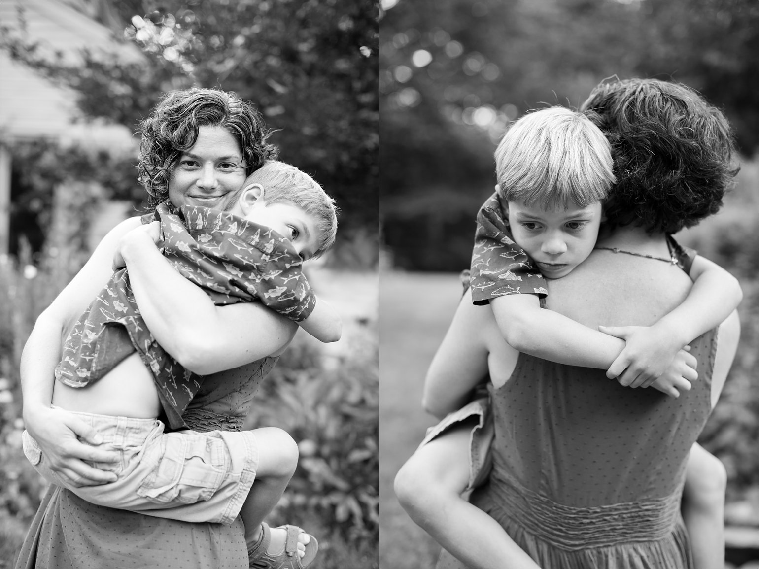 Black and White Portraits - Mother and Son © 2015 Maundy Mitchell