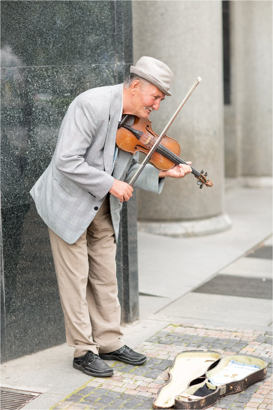 Violinist in Wenceslas Square (C) Maundy Mitchell