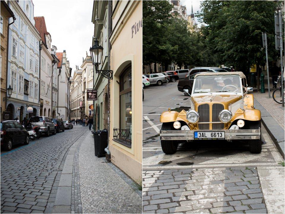 Street & Old Car in Prague (C) Maundy Mitchell