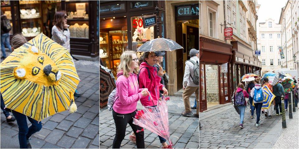 Kids With Umbrellas in Prague (C) Maundy Mitchell