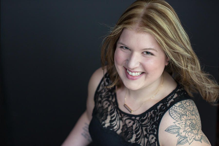 Sarah Smiling Shoulder Tattoo