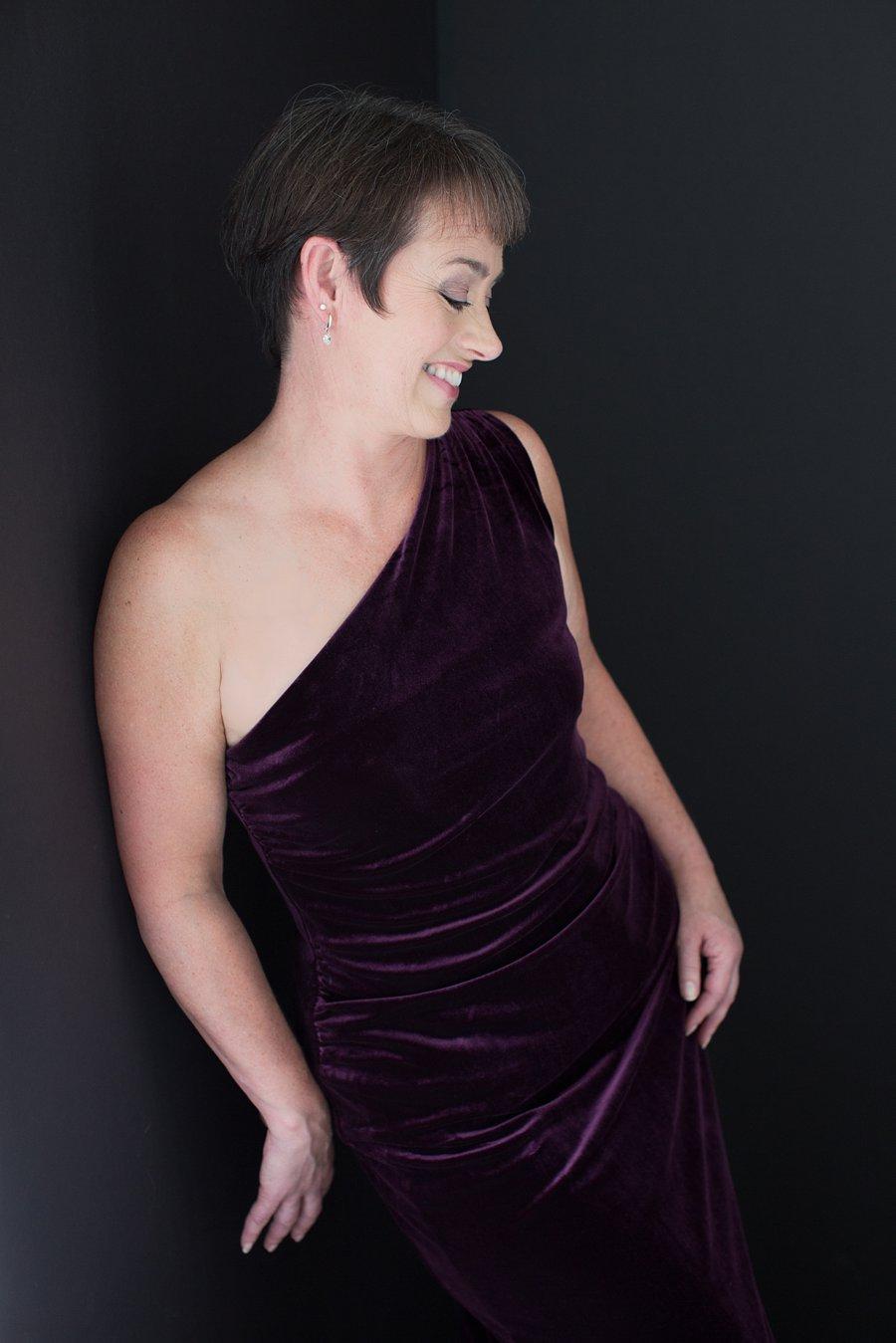Shirley in Velvet Dress