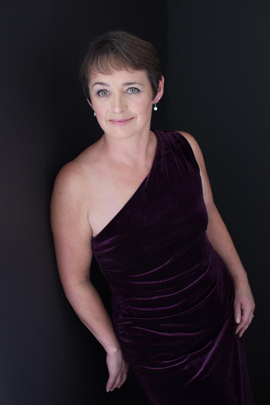 Portrait of Shirley in Purple Velvet Gown