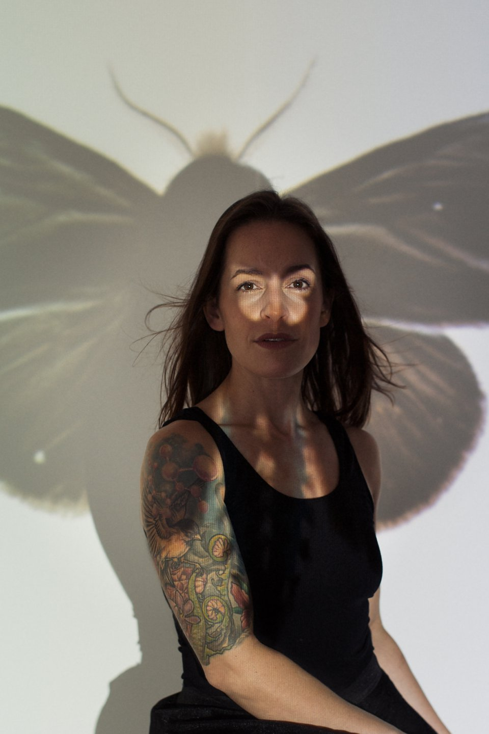 Portrait with Wasp Projection ©2016 Maundy Mitchell