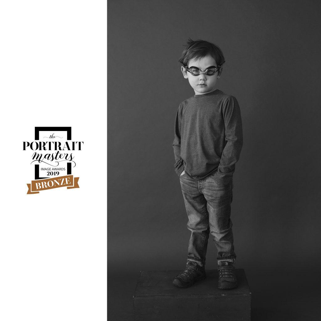Bronze in Children's Portraiture: Everett in Swim Goggles
