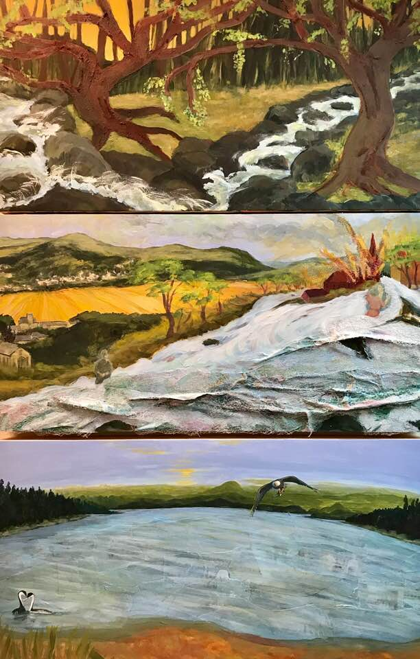 Landscape paintings by Maryellen Sakura