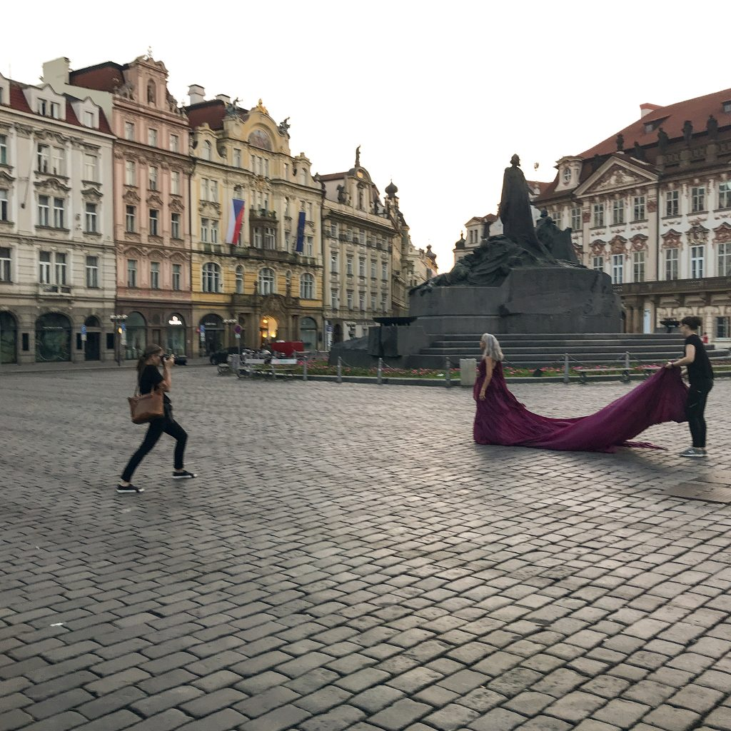 Behind the scenes in Old Town Square, Prague