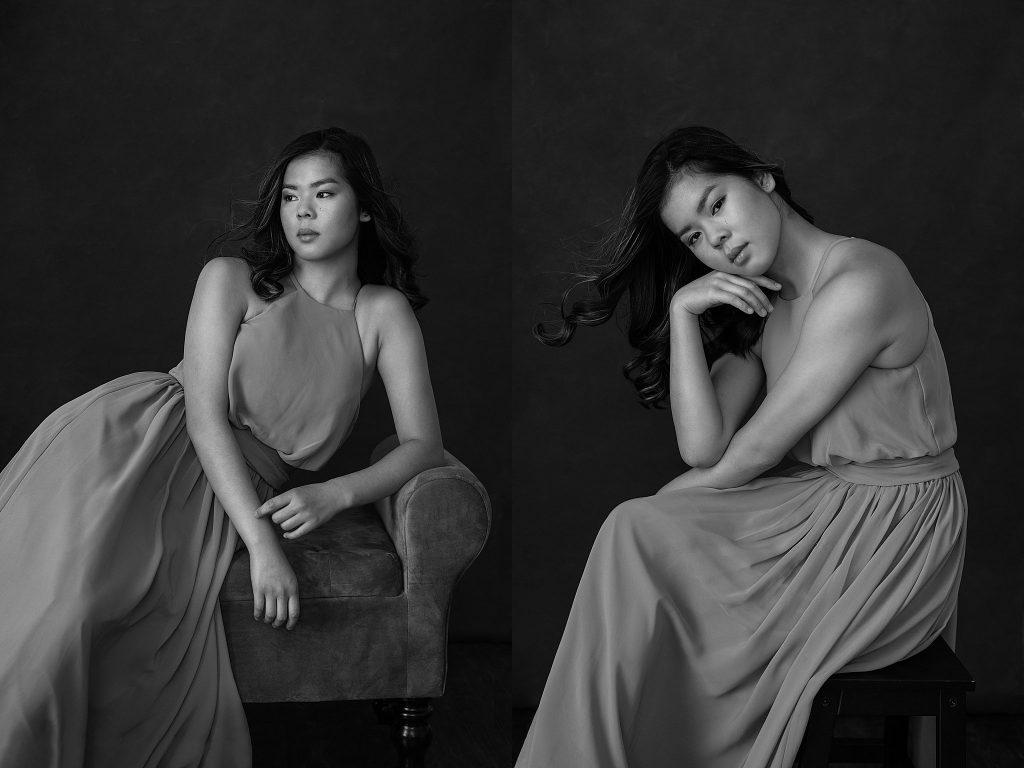 Black and white portraits of Ella