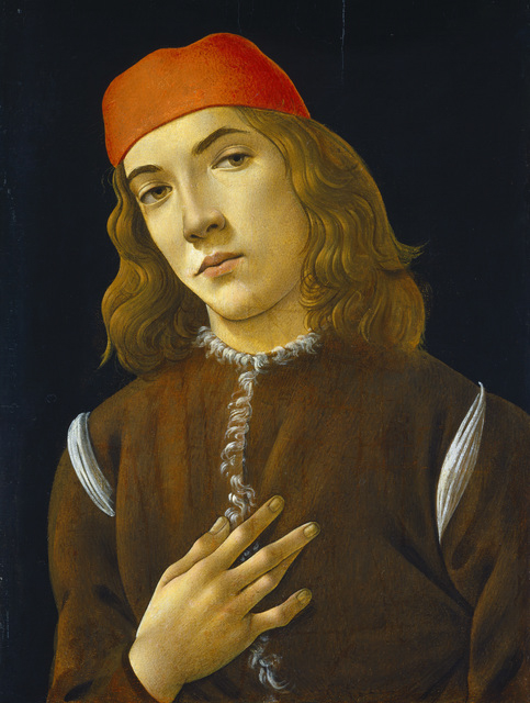 "Sandro Botticelli's painting ""Portrait of a Young Man"""