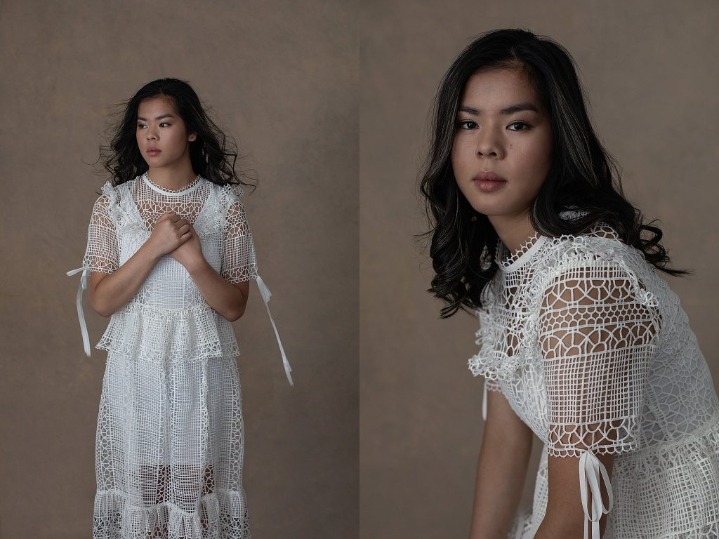Portraits of Ella in Cream Lace Dress