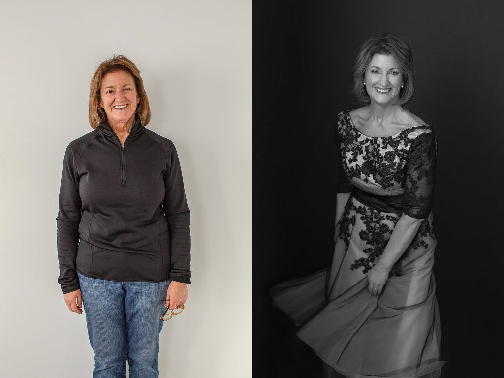 Before and After Styling - Susan in vintage 50's dress