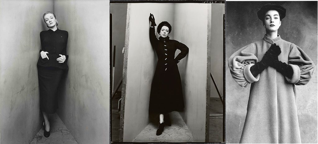 Three examples of Irving Penn's work from 1948-1950
