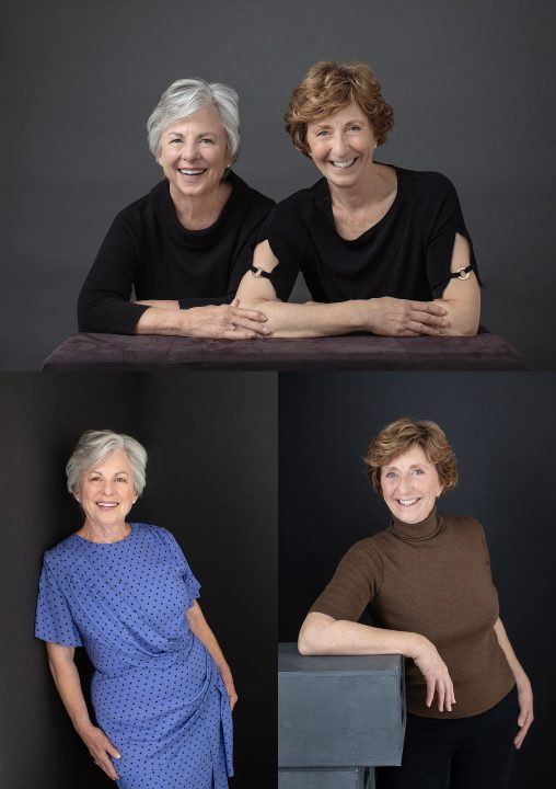Studio portraits of Rosemary and Jean