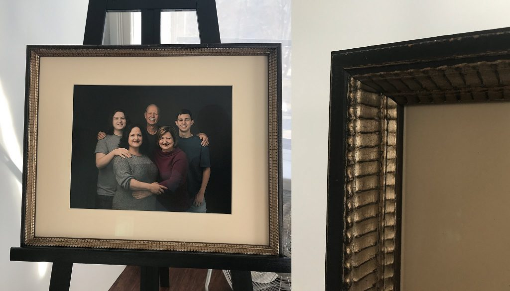 Custom framed heirloom family portrait
