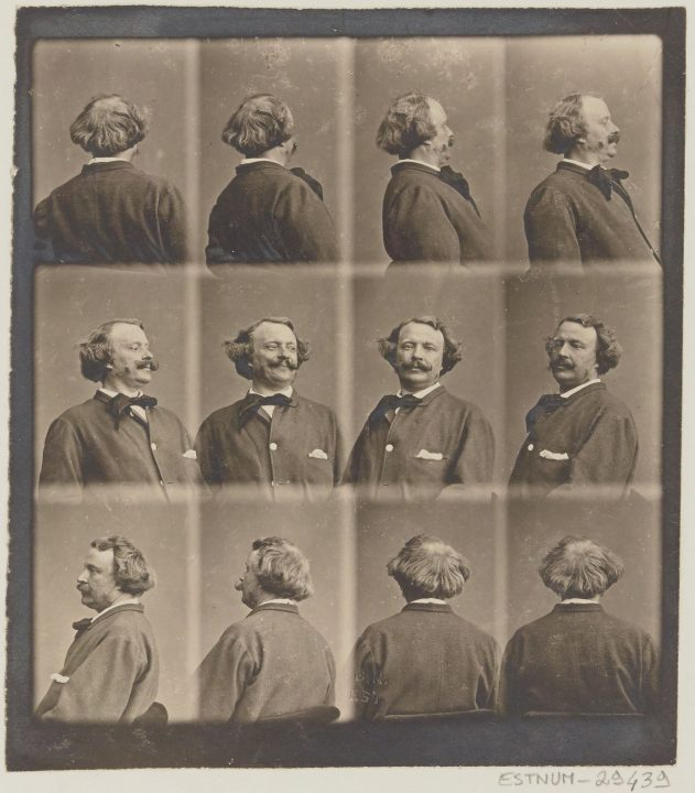 """Revolving Self Portrait"" by Nadar, circa 1865"
