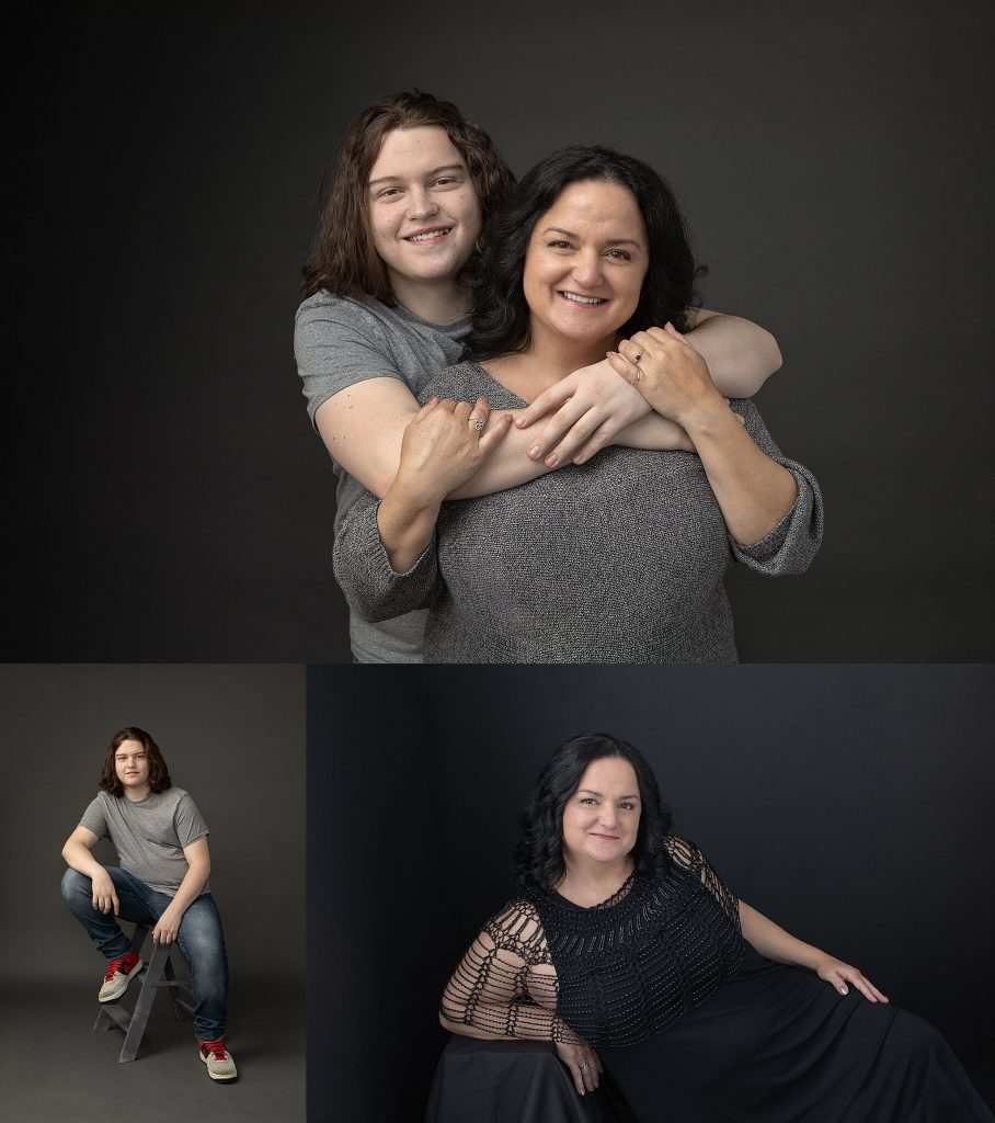 mother son family photo session