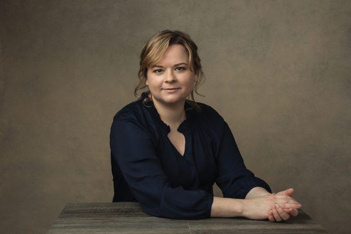 Portrait of Natalie Taylor at desk