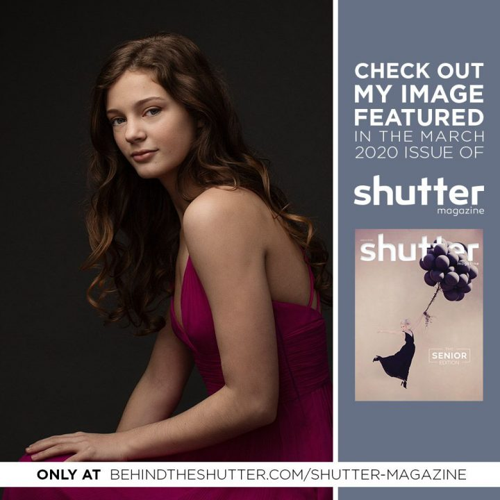 Portrait of Emma featured in the Senior Edition of Shutter Magazine, March 2020