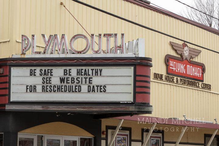 Downtown theatre marquee
