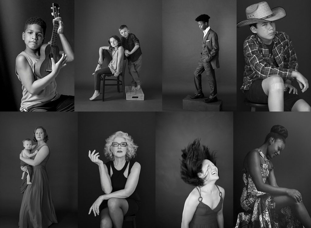 "Black and white portraits included in the Library Arts Center's ""Selections 2020"" exhibit © Maundy Mitchell"