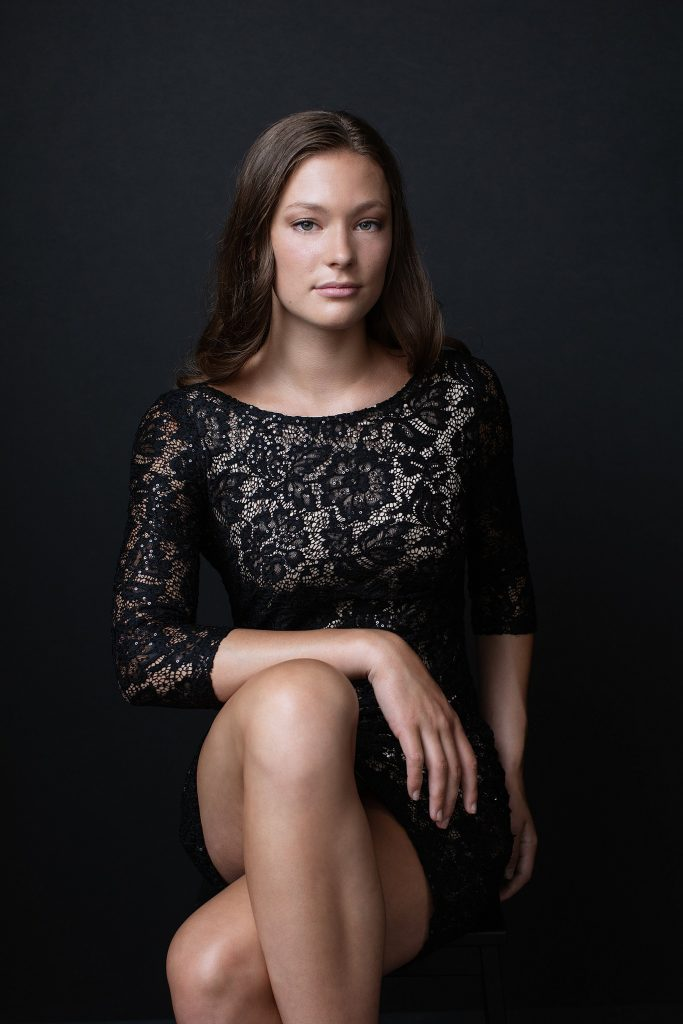 Portrait of Abby in Lace Dress