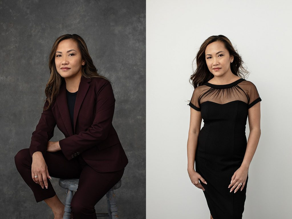 Women's business portrait and women's portrait