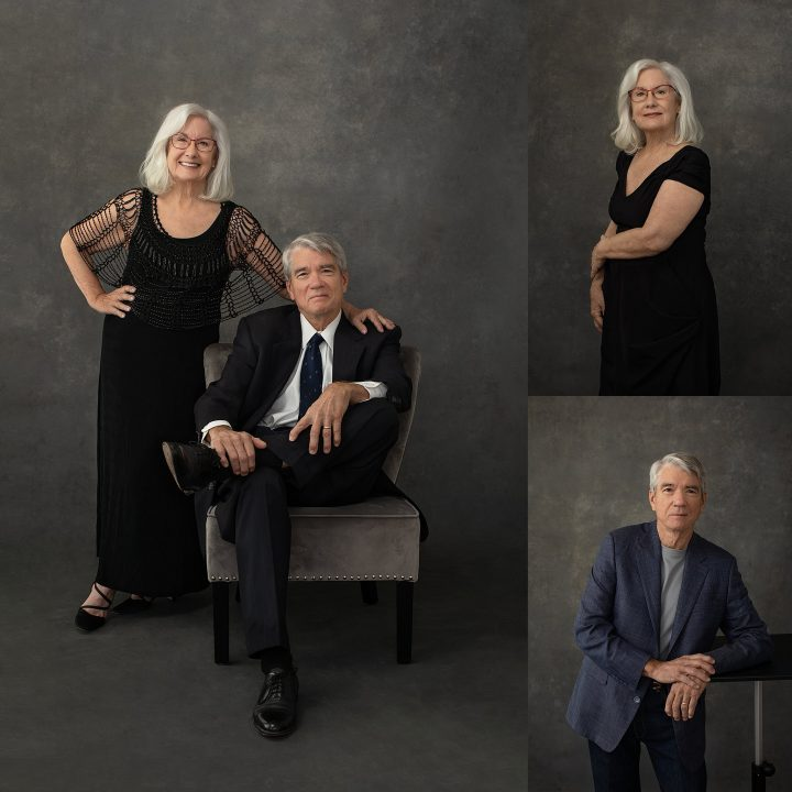studio portraits of a couple