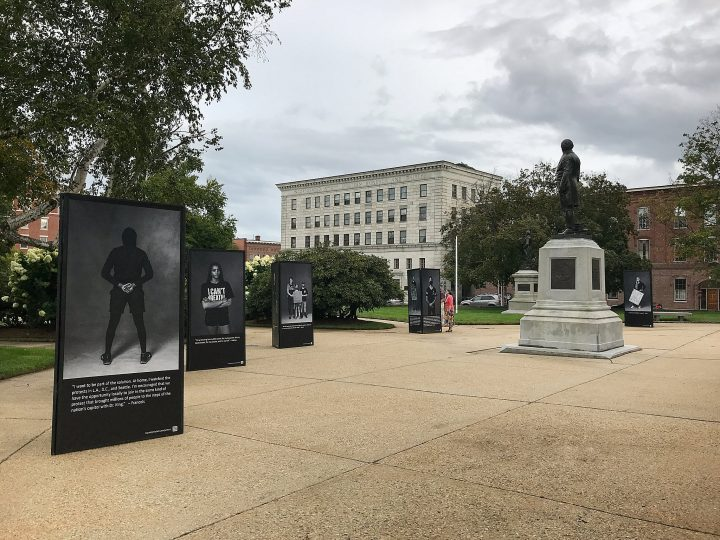 The second placement of the Protest Portraits exhibit at the NH State House in Concord