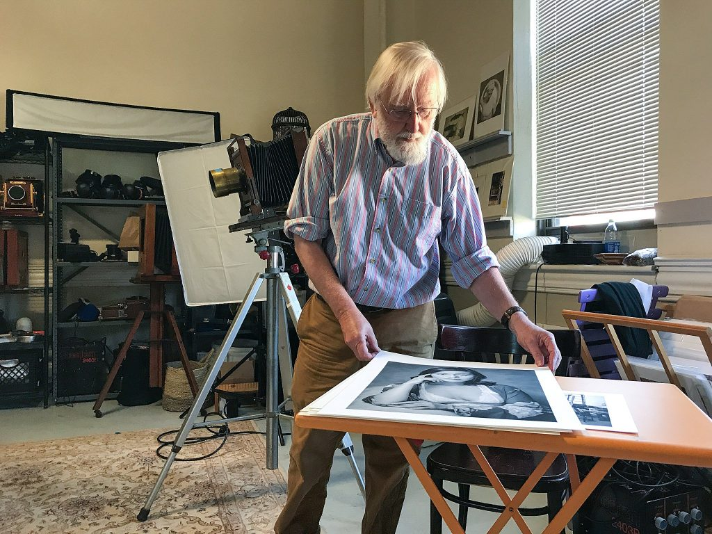 Photographer Gary Samson shows his portraits in his Manchester, NH studio