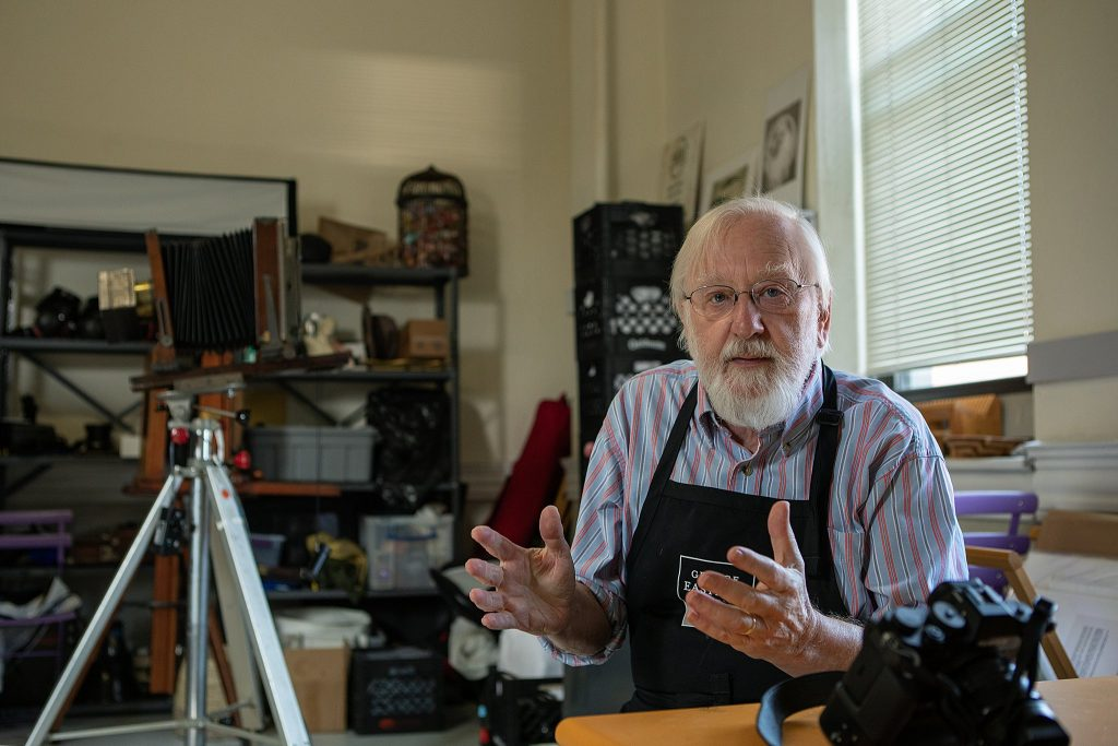 Portrait of photographer Gary Samson in his studio