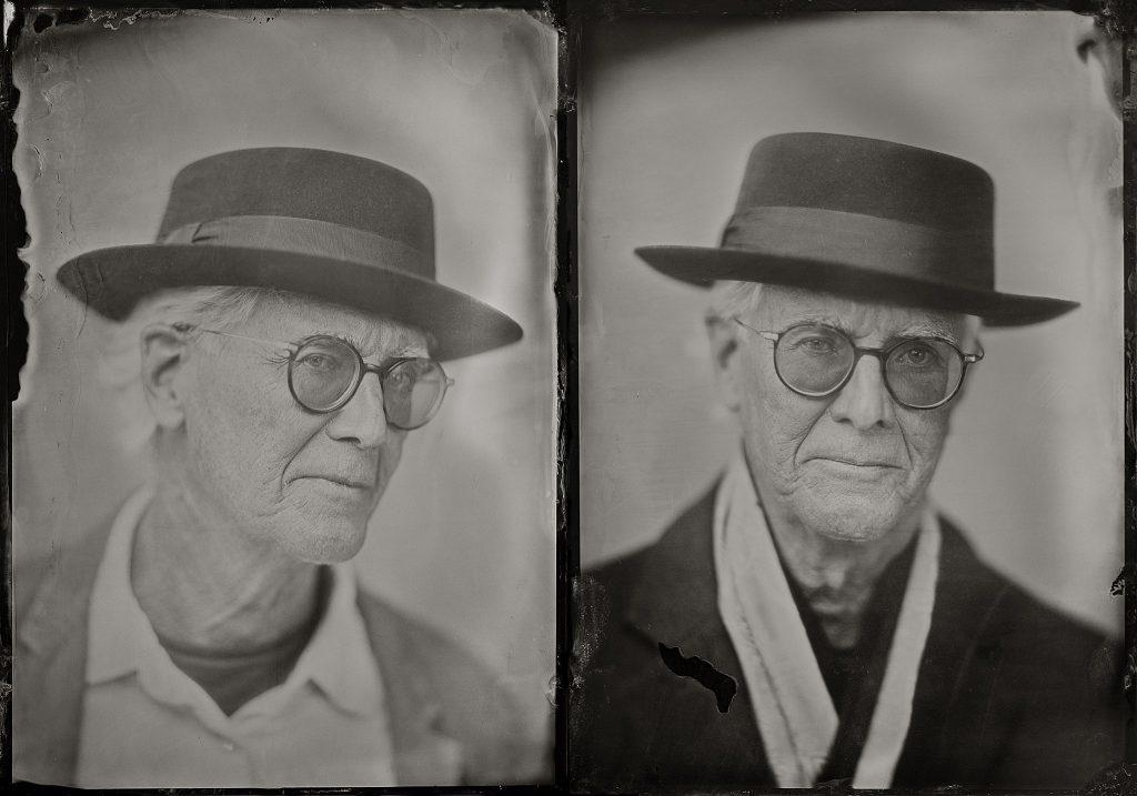 Tintype portraits of musician David Lockwood