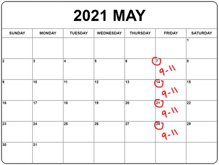 Introduction to Digital Photography - spring 2021 calendar