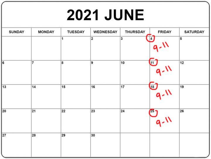 Intro to Portrait Photography Spring 2021 Calendar