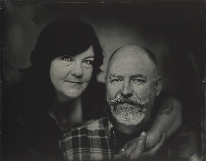 Tintype portrait of a couple