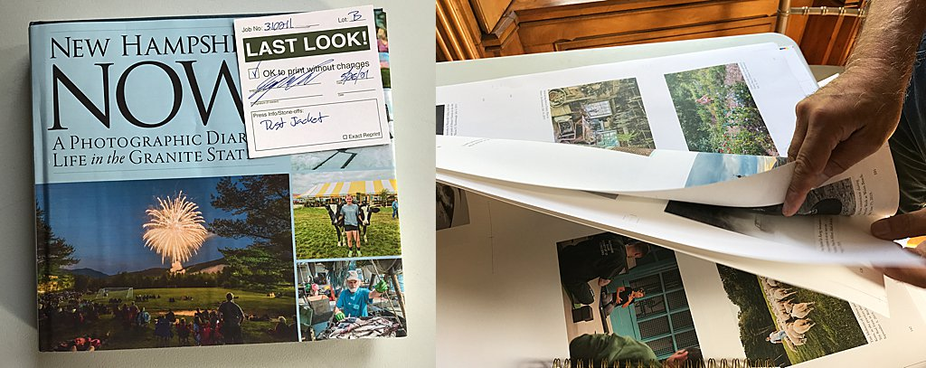 New Hampshire Now: A Photographic Diary of Life in the Granite State  - book dust jacket proof / proofing pages