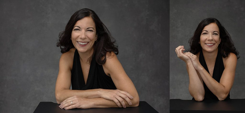 Portraits of Shana smiling