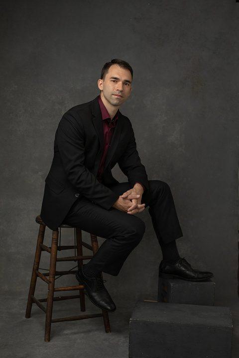 Studio portrait of pianist and professor Adam Mayon